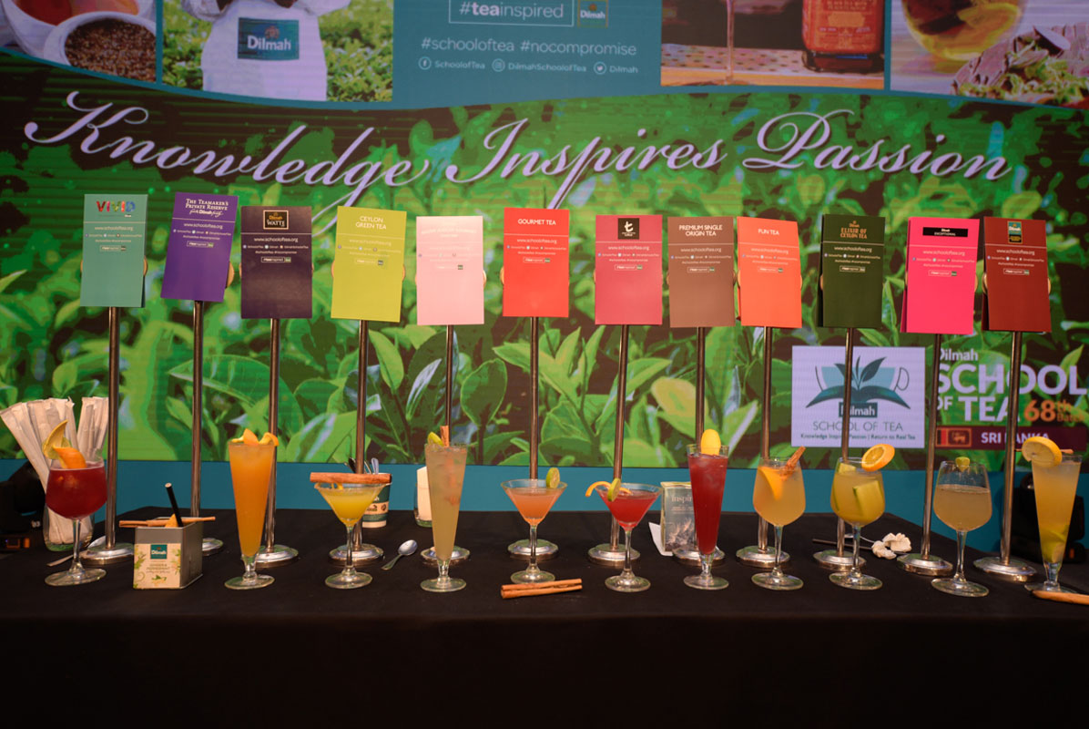 Tea infused beverages made by participants