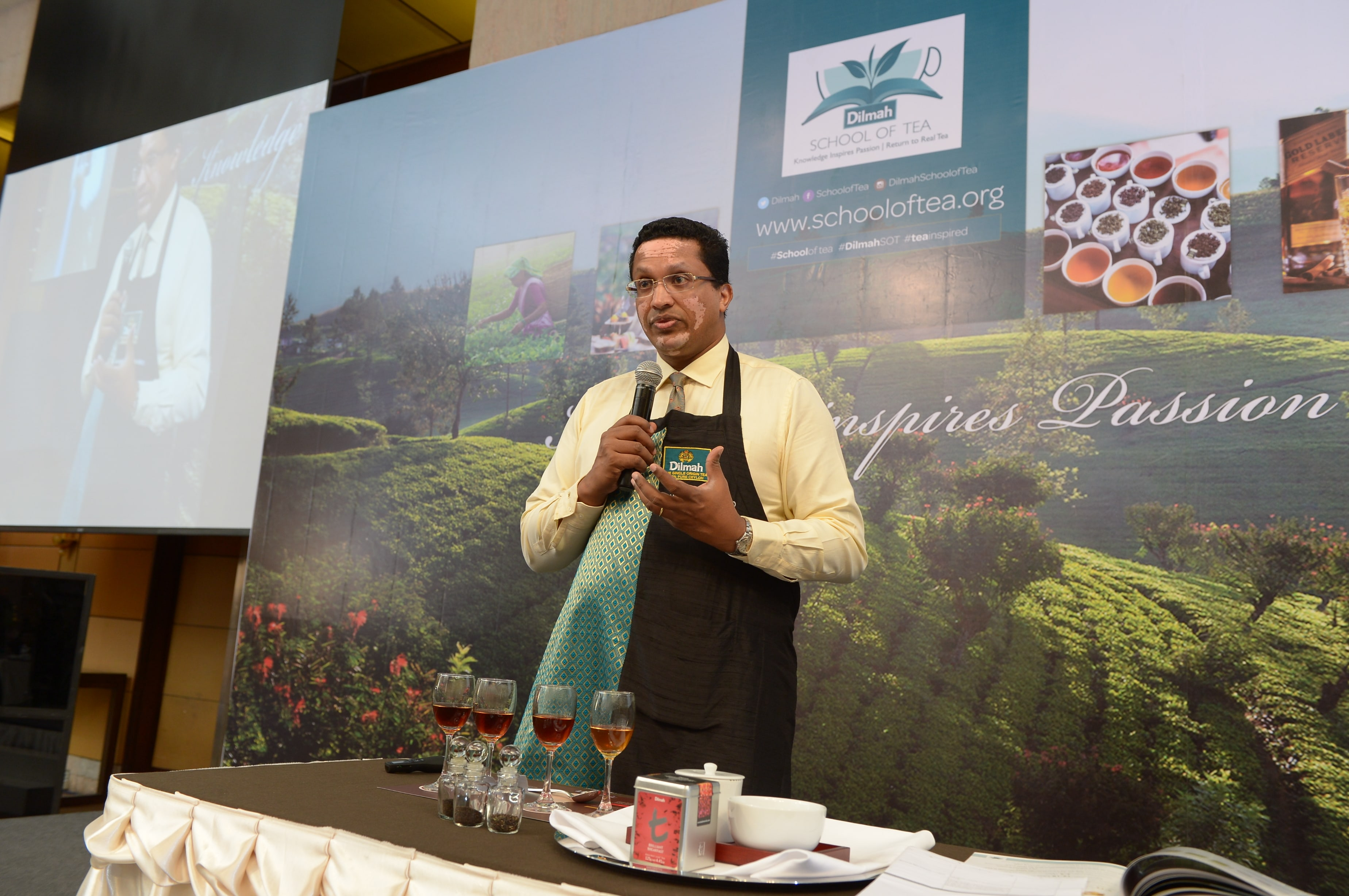 Dilhan C Fernando explaining the Terroir in tea