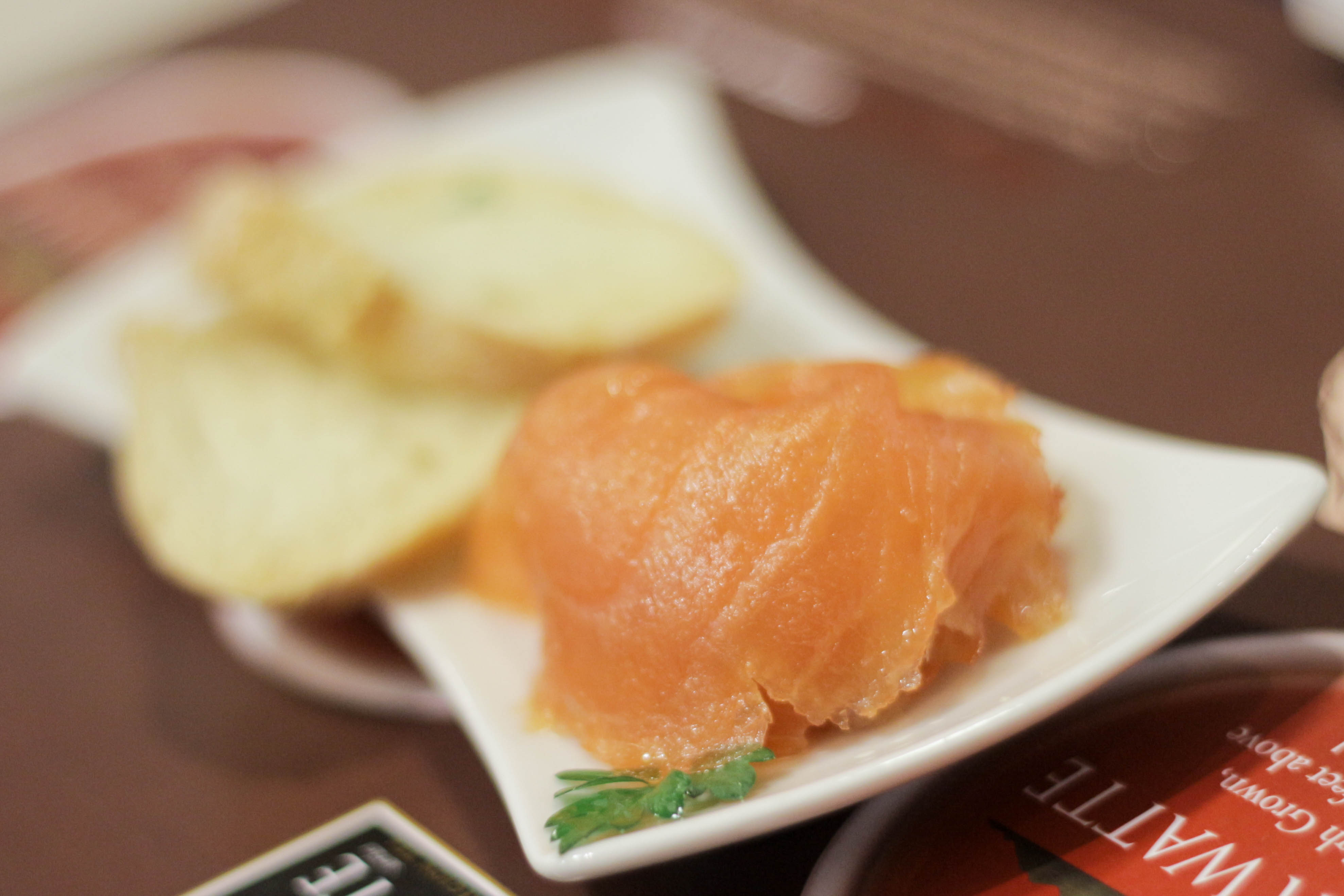 Smoked Salmon With Sencha with extra special