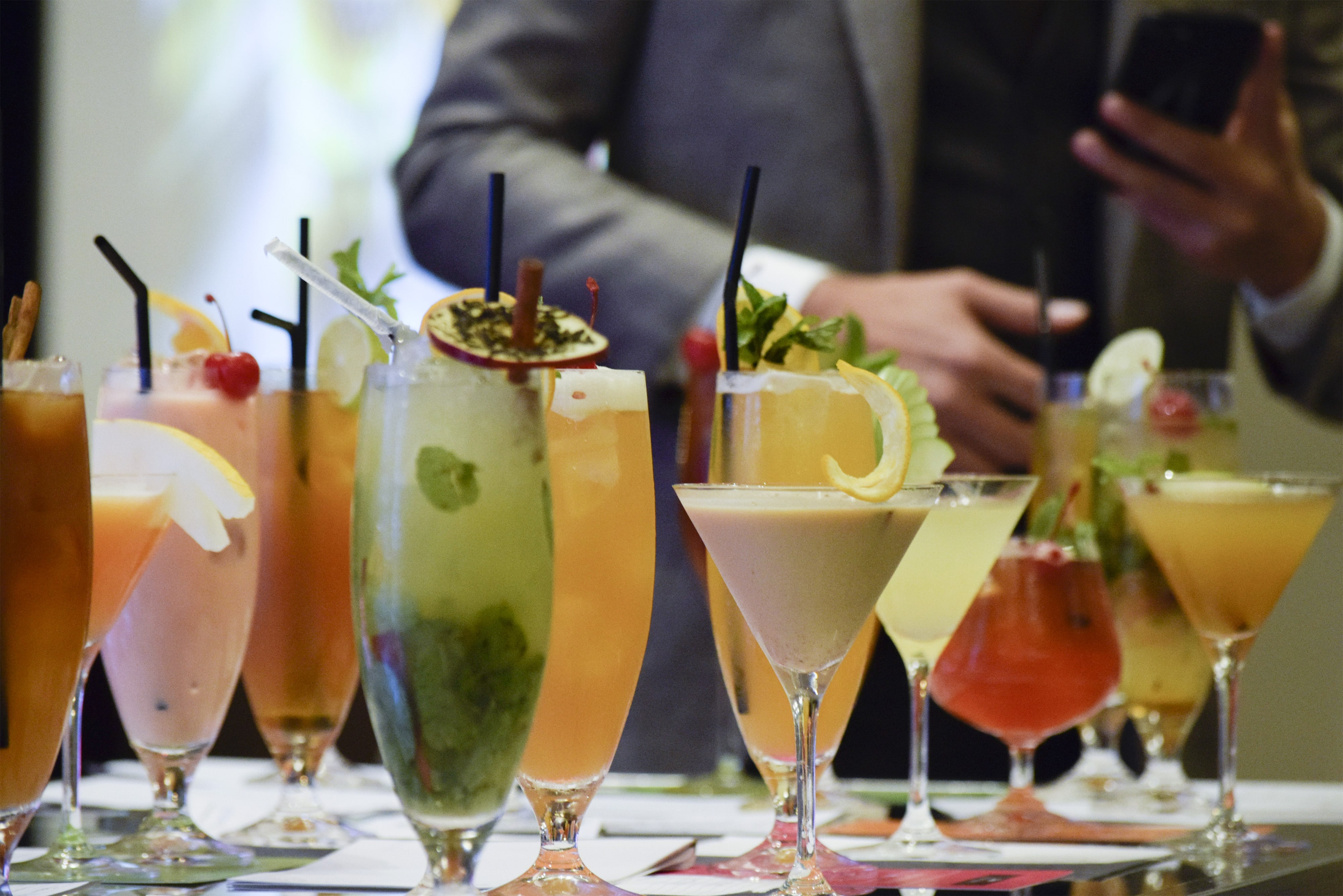 Tea Inspired drinks created by the participants