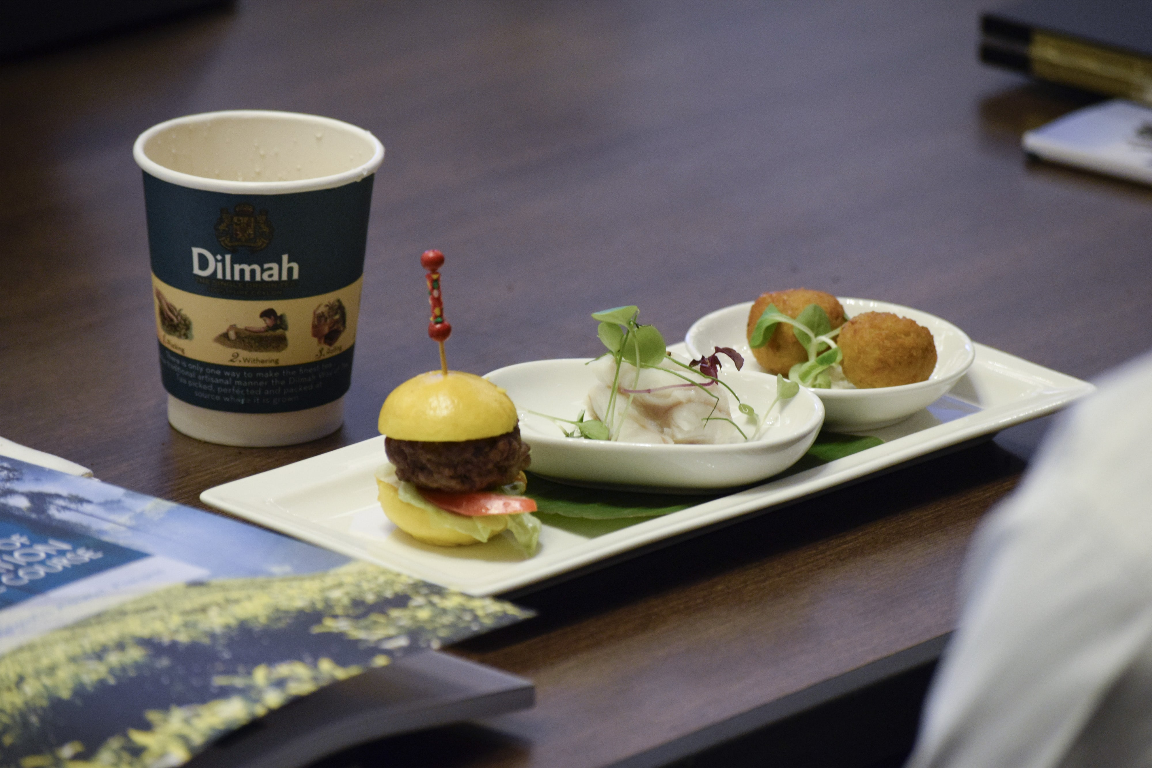 Tea and Food pairings presented at Session