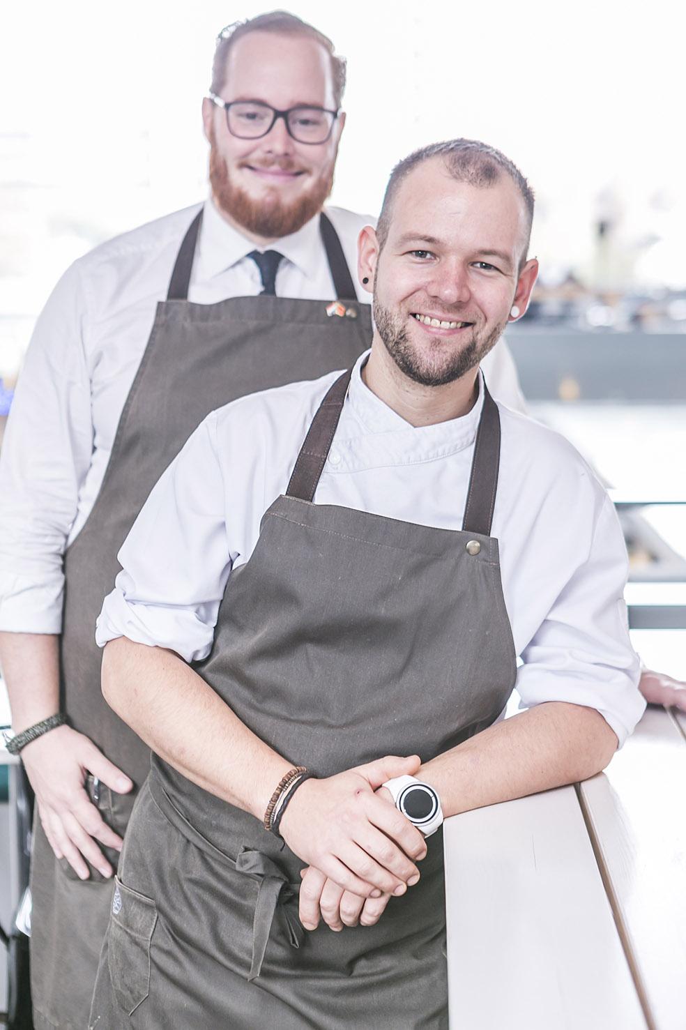 Vilmos & Wesley from Restaurant Vermeer