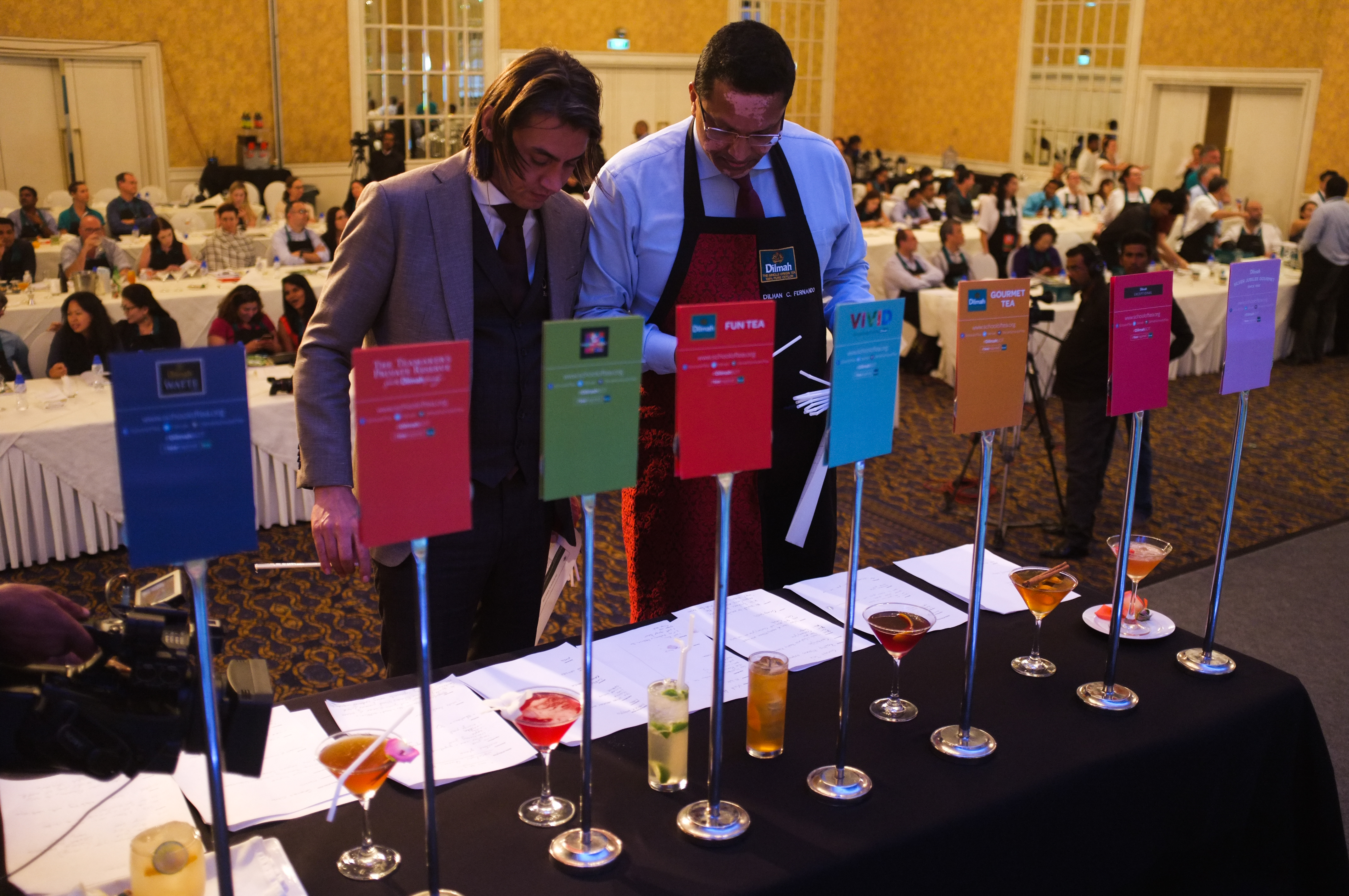 Mixology session judging of the drinks prepared by the participants