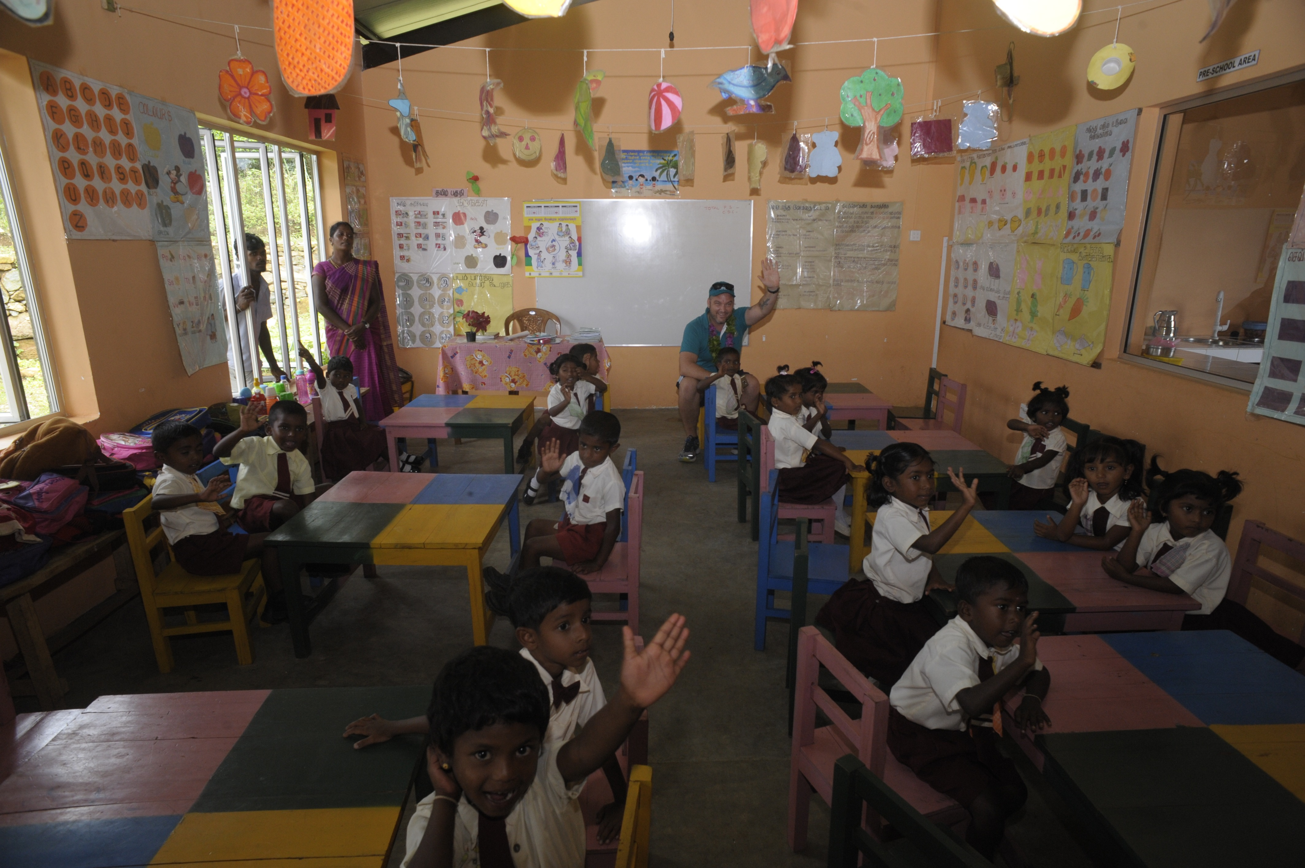 Kids classroom at the Creche
