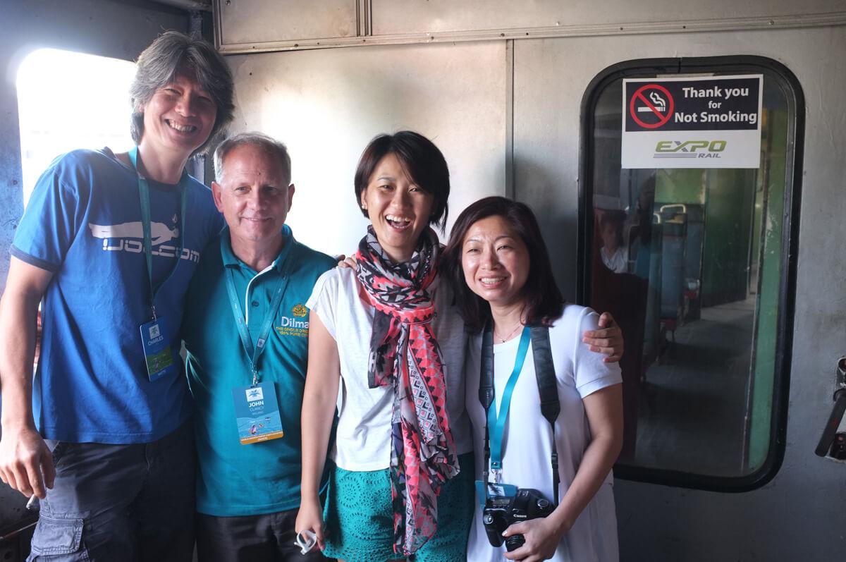 ( Left to right) Charles Lim, John Clancy, Jenny Tan & KhimNoy