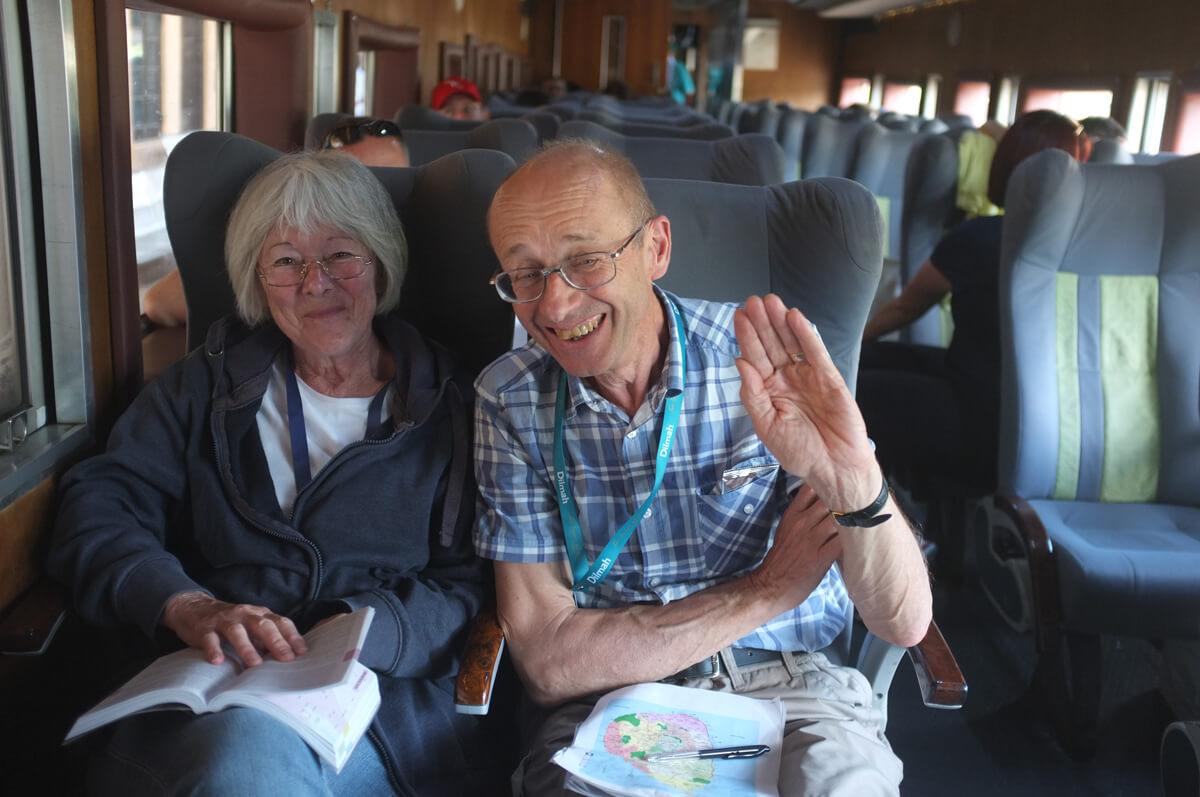 Prof. Bob Grimble & Margaret Ann from UK.