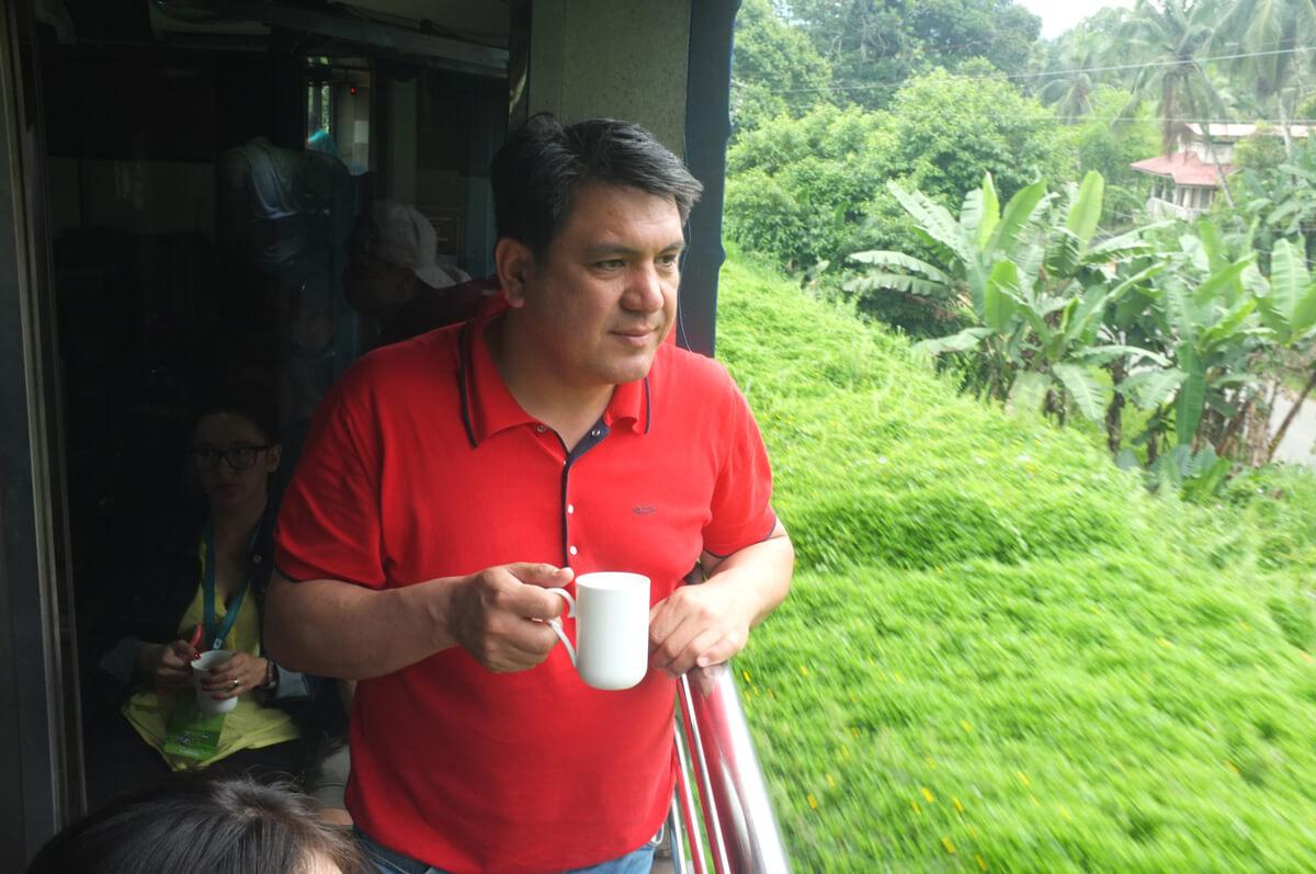 Enjoying Dilmah cuppa