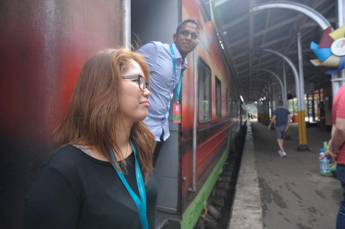 Stop at Kandy station