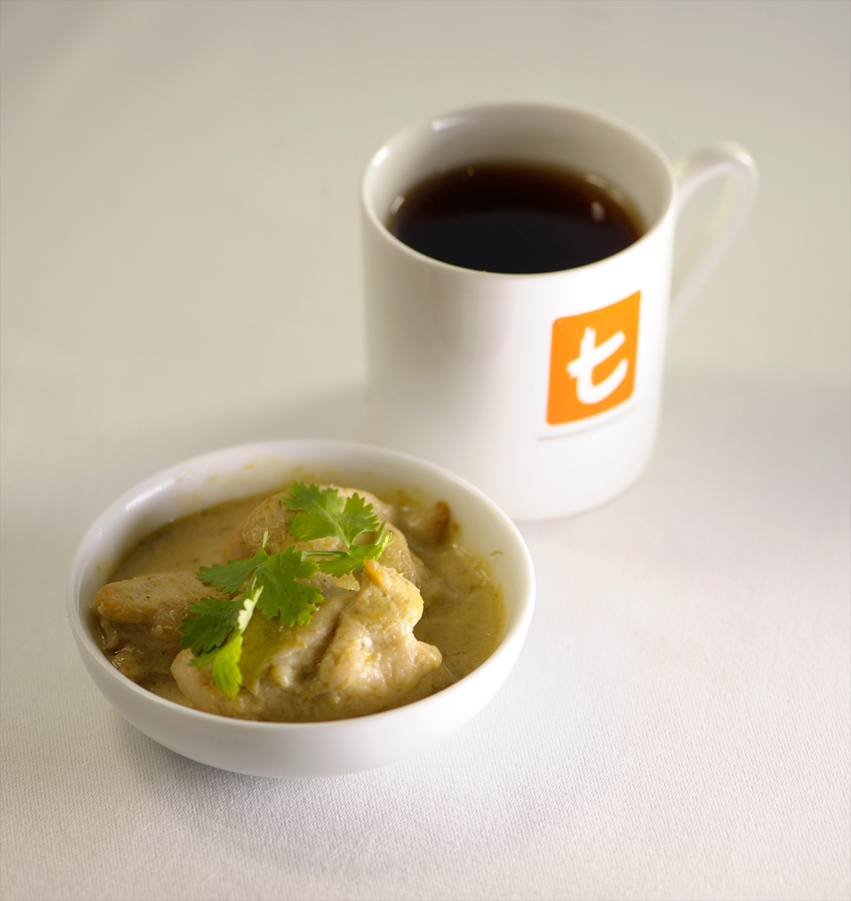 Thai Green curry with Earl Grey