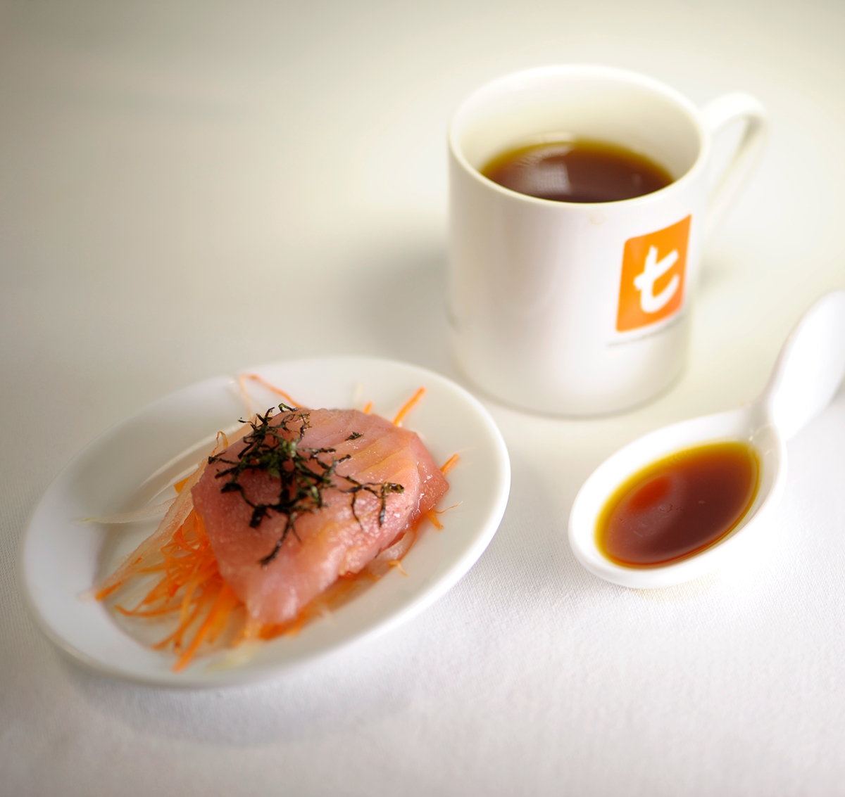 Lively Lime & Orange with Sashimi in Ponzu sauce