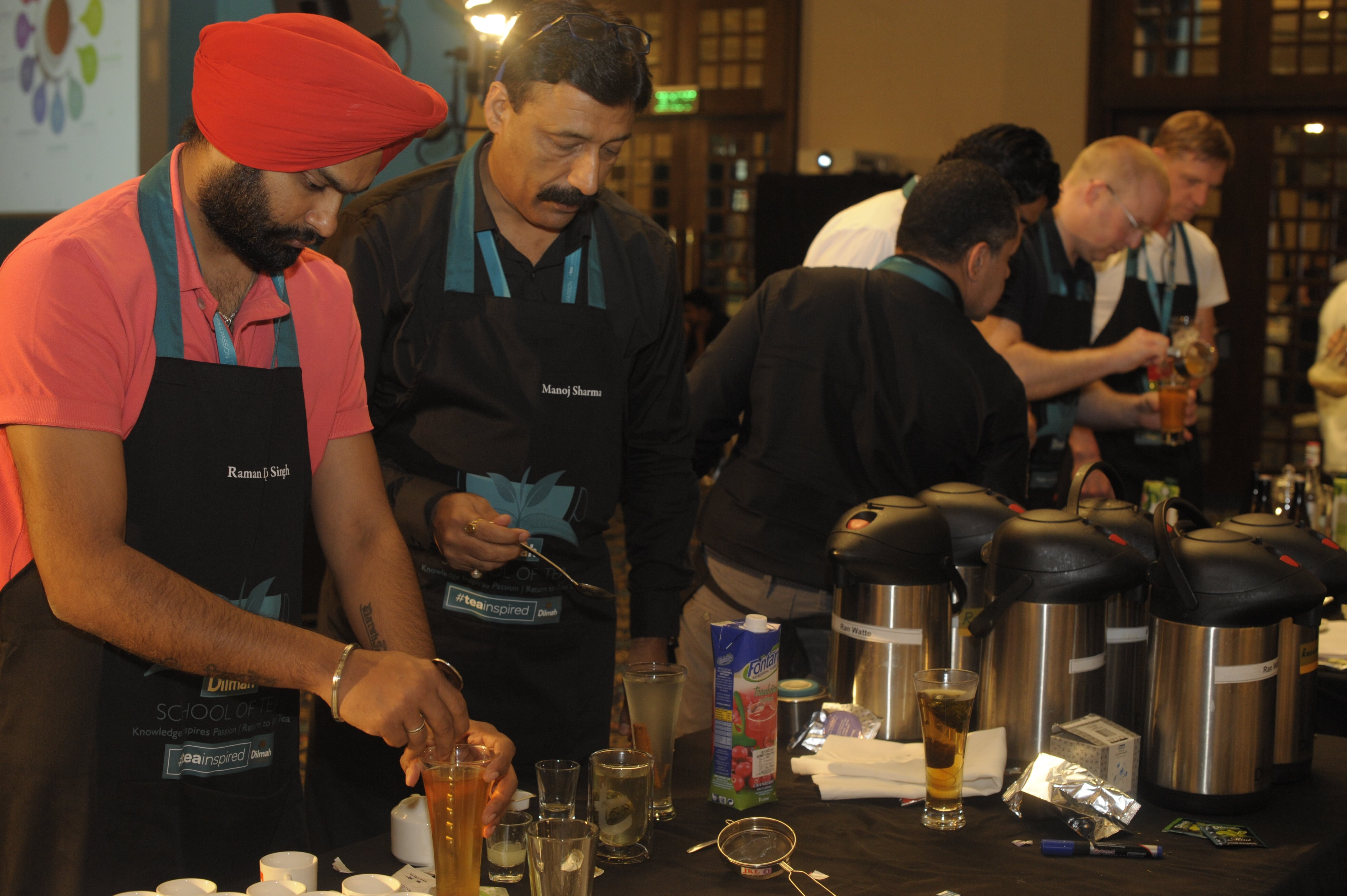 Each individual preparing a drink suitable for selected mood