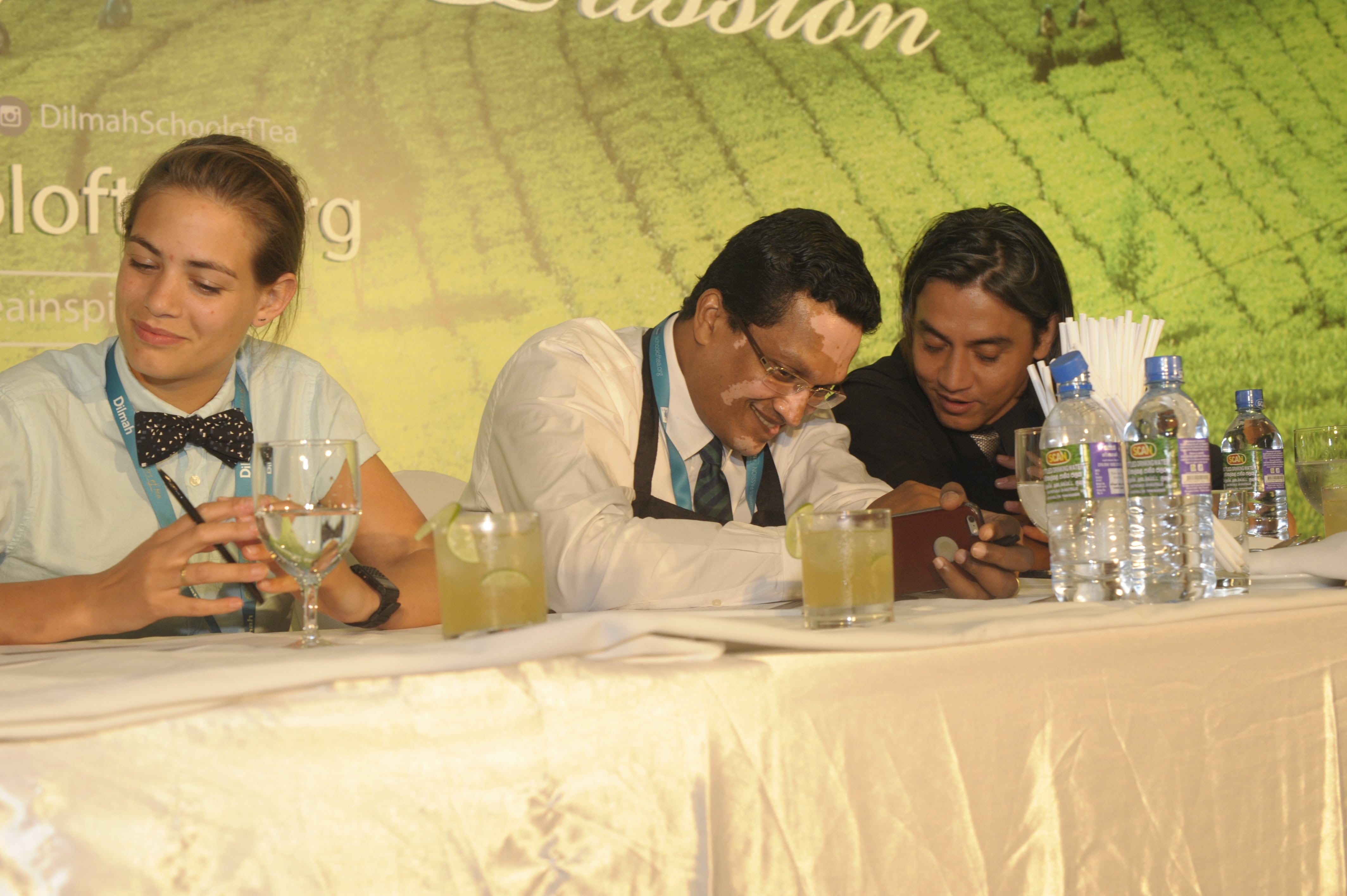 Tess, Dilhan & Robert Judging the 'Tea for every mood' competition