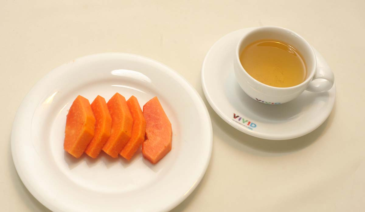 Gentle Minty Green tea with papaya