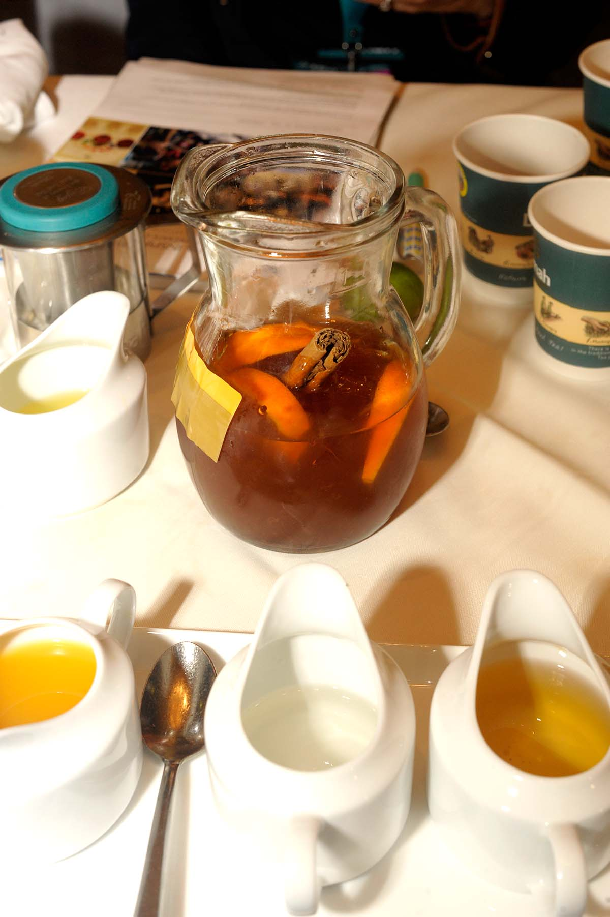 Iced tea pitcher made with tea bags