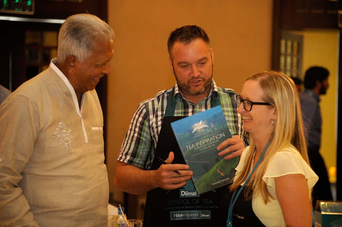 Founder of Dilmah with Melissa Harriman & Mark Freeman from New Zealand