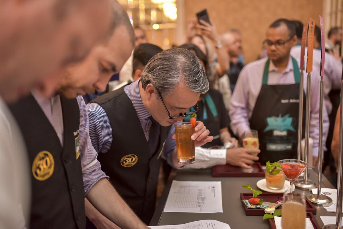 Practical Session – Judges tasting the final drinks