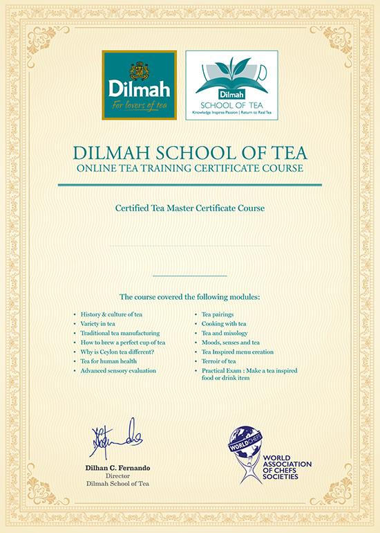 Online Tea Training Tea Master Certificate