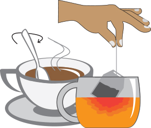 Does tea affect the absorption of iron?